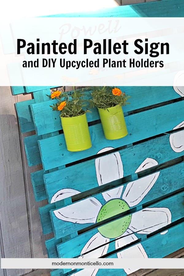 paintedpalletsignandplanter