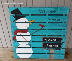 Winter Themed Pallet Sign