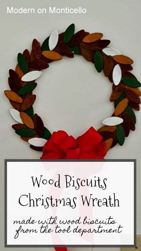 Wood Biscuits Christmas Wreath