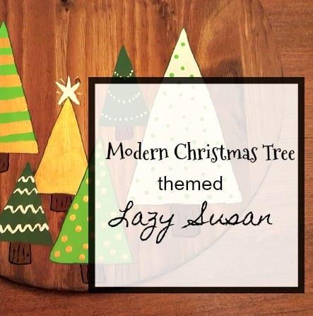 Modern Christmas Tree themed Lazy Susan