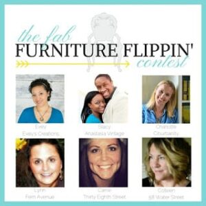 Making a Statement with the February Fab Furniture Flippin' Contest