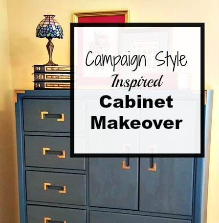 Campaign Style Inspired Furniture Makeover with the Fab Furniture Flippin' Contest