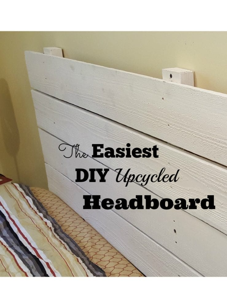 The Easiest DIY Upcycled Headboard