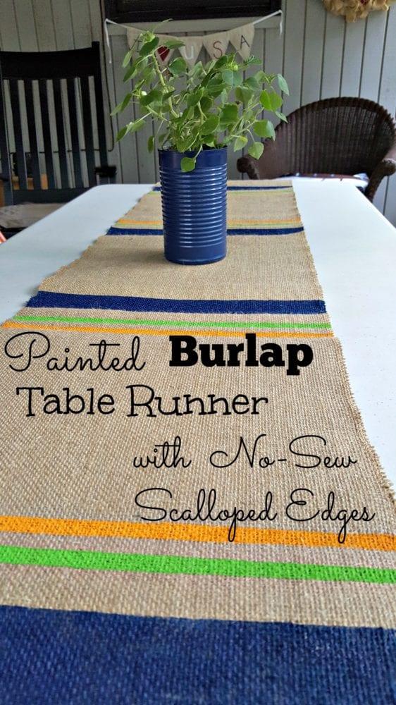Scalloped Edge Table Runner