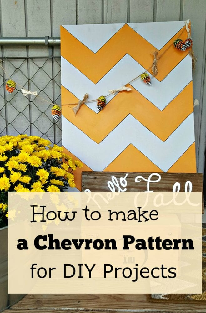 How to make a chevron pattern for diy projects for How to make a chevron template