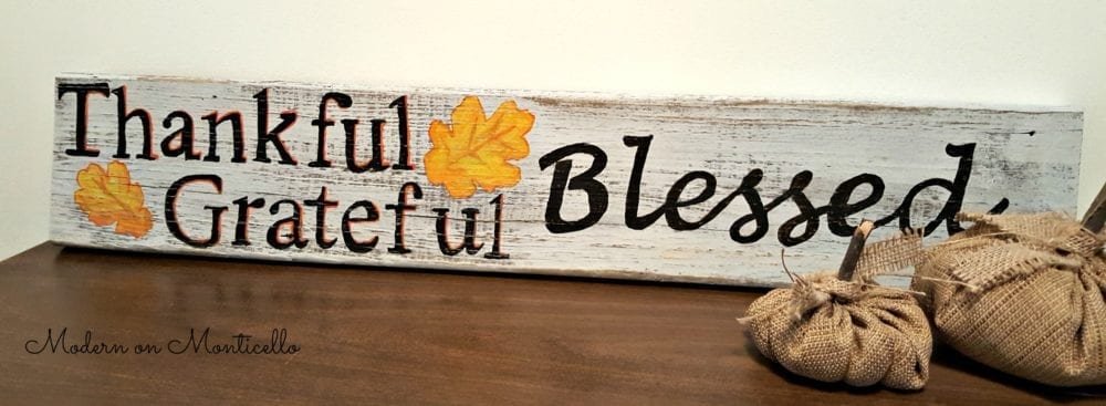 thankfulgratefulblessedwoodsign