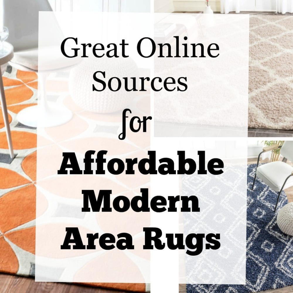Great Online Sources for Affordable Modern Area Rugs