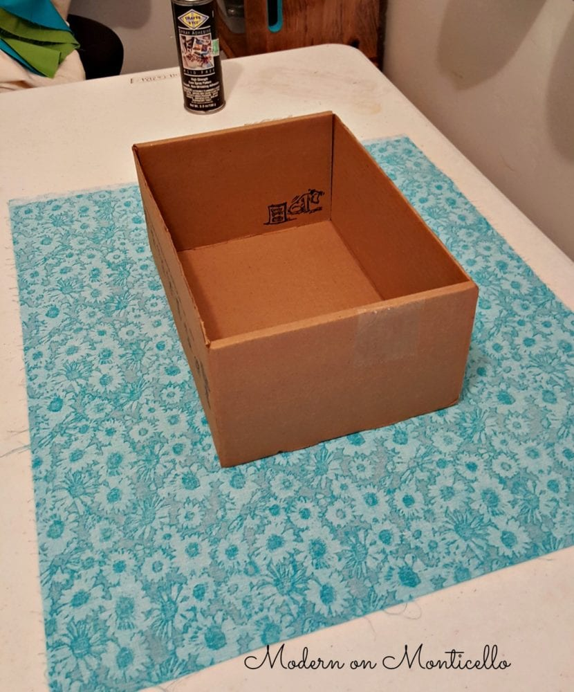 Fabric Covered Storage Boxes Modern On Monticello