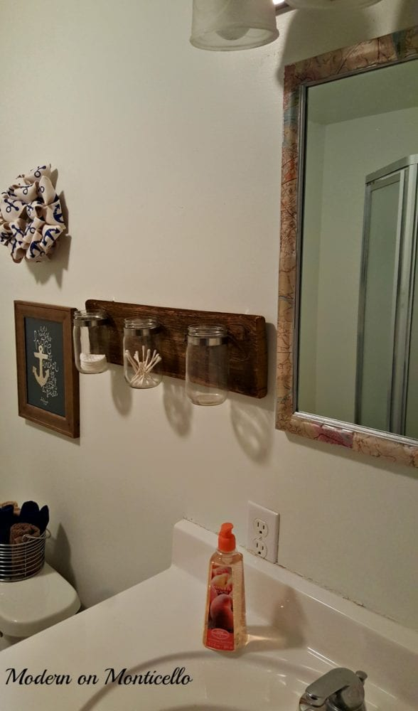54 different uses for a mason jar organizer - modern on monticello