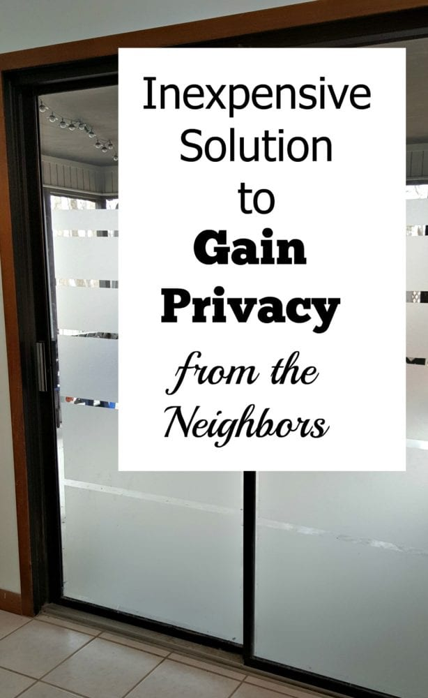 Got Close Neighbors?  Inexpensive Solution to Gain Privacy from the Neighbors