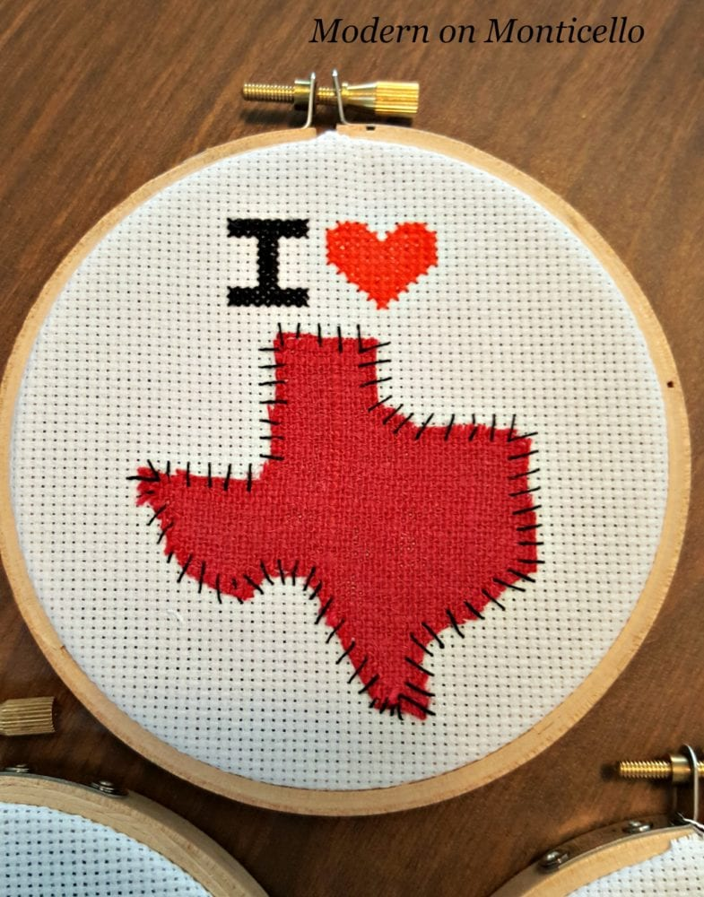 I love my home state cross stitch project modern on for Country living magazine cross stitch