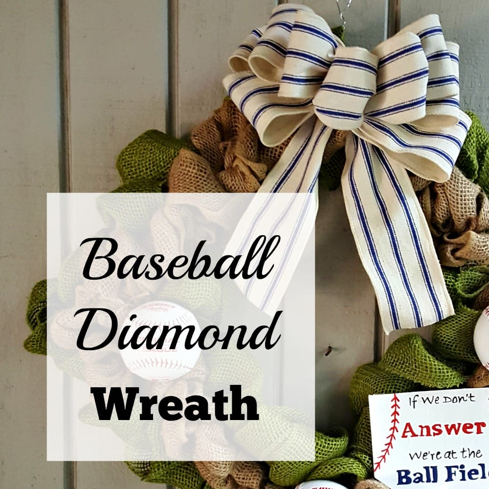 Baseball Diamond Shaped Wreath