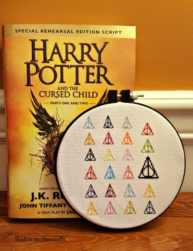 Harry Potter Deathly Hallows Cross Stitch Modern On Monticello