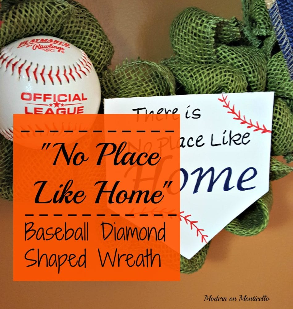 """No Place Like Home"" Baseball Diamond Wreath"