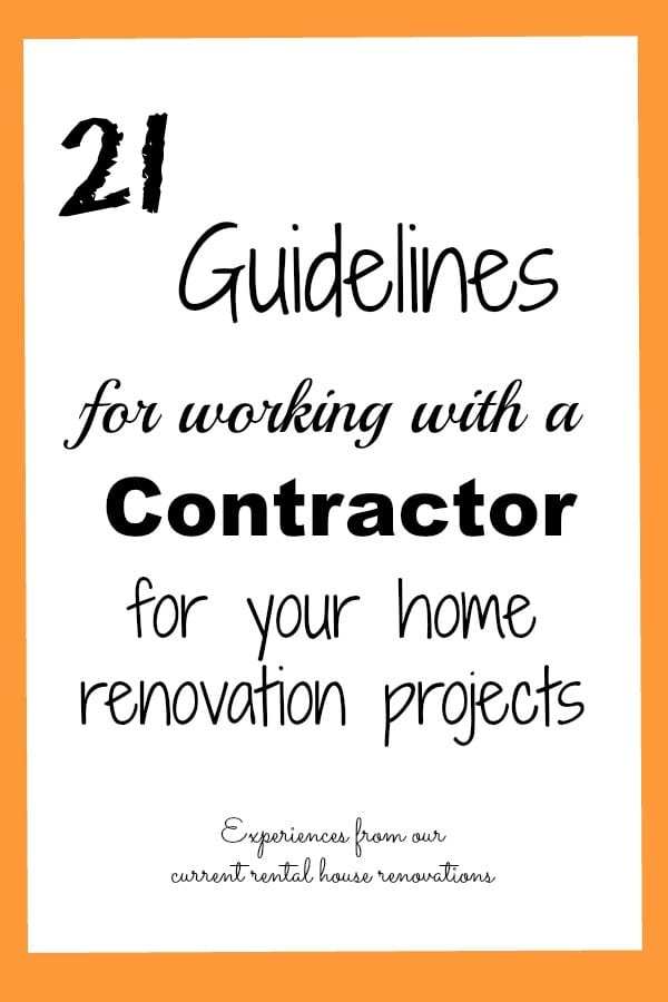 Guidelines for Working With A Contractor – A Bradford Street House Update