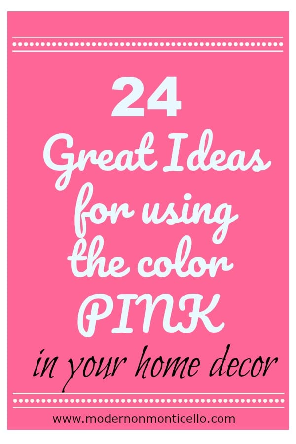 Using The Color Pink in Home Decor