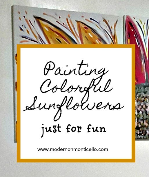 Painting Colorful Sunflowers – just for fun