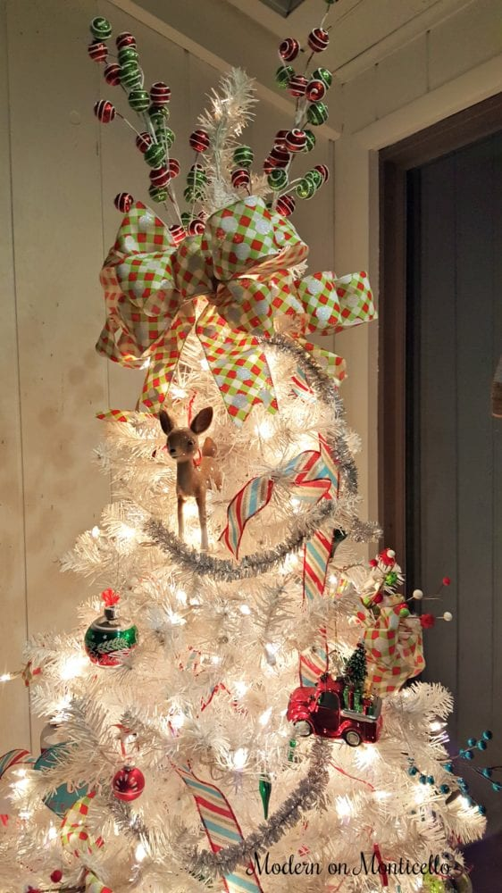 Christmas Tree Decor Blog Hop My Retro Themed White