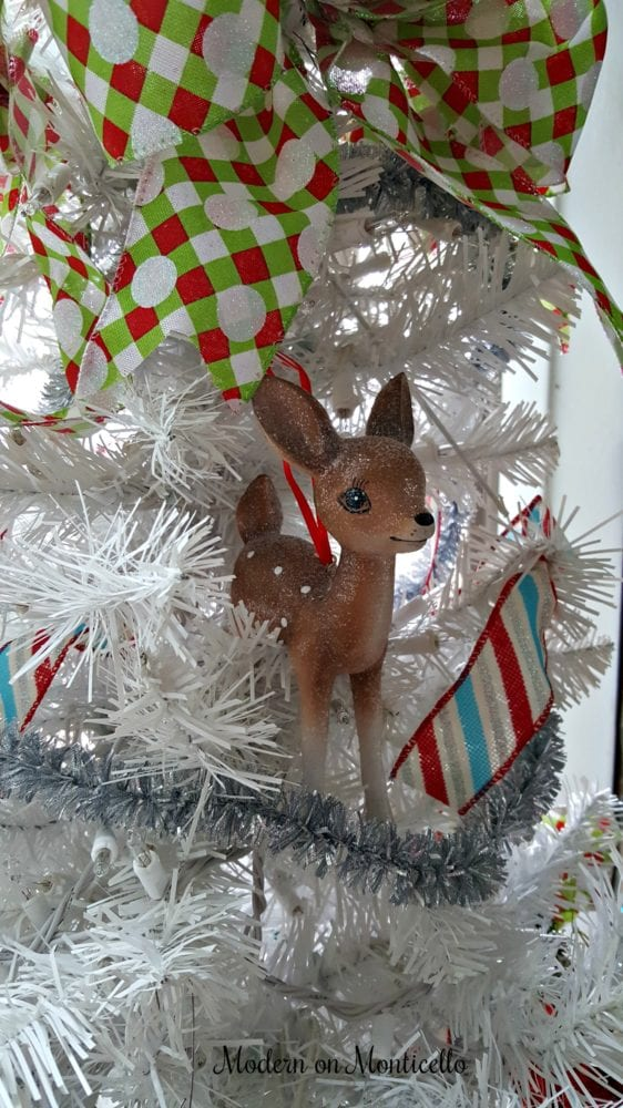 Silver Tinsel Pop Up Christmas Tree