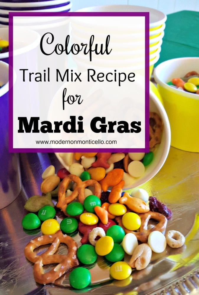 Colorful Trail Mix for Mardi Gras Or Any Occassion