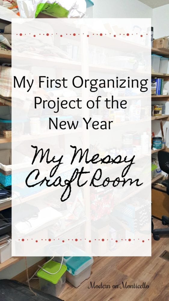 My First Organizing Project For The New Year – My Messy Craft Room