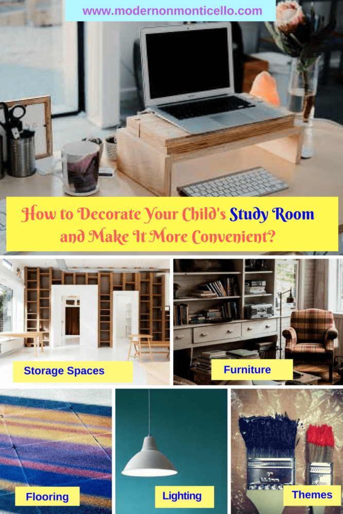 How To Decorate Your Child S Study Room And Make It More Convenient