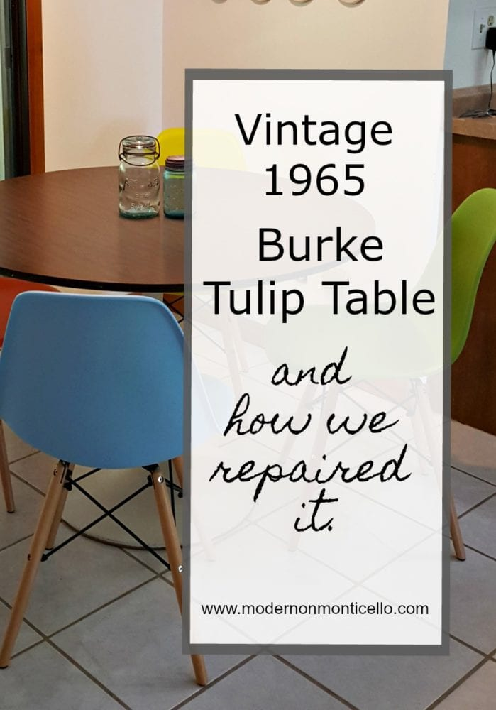 We Bought A Vintage Burke Tulip Table And Repaired It Too - Original saarinen tulip table