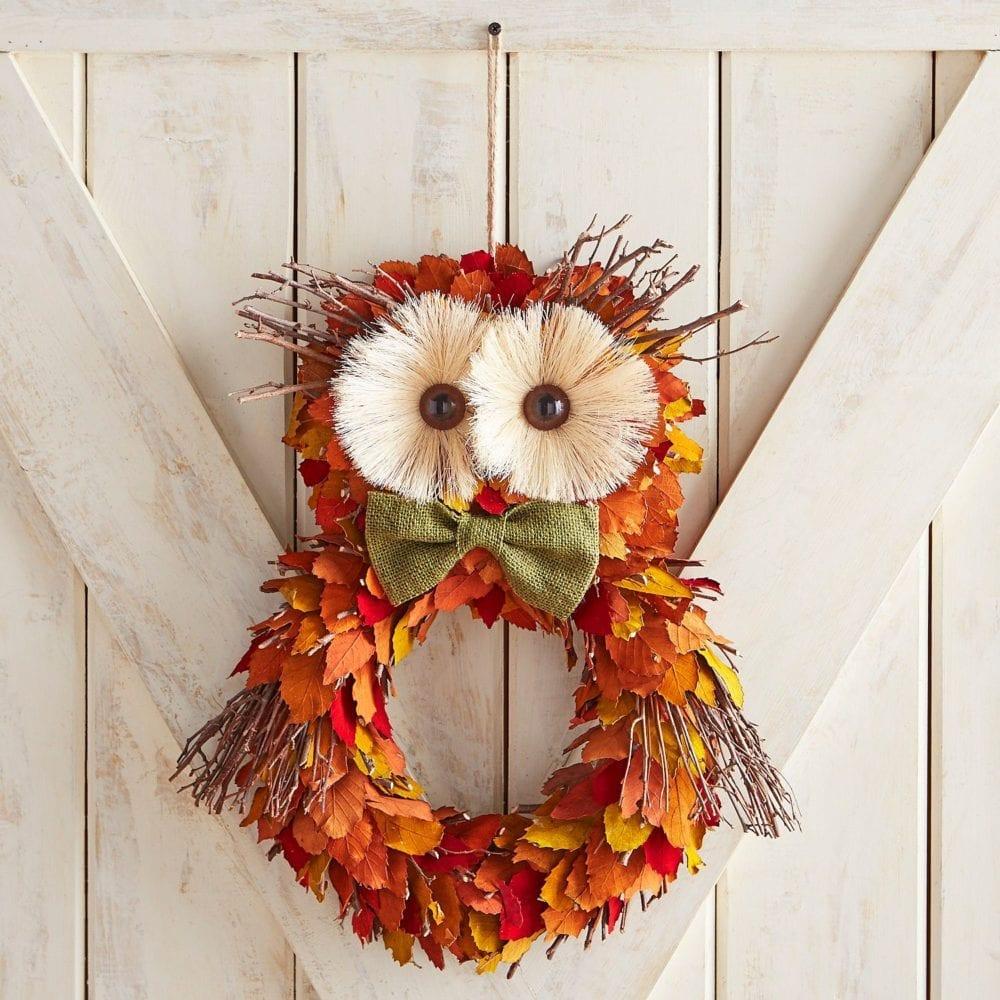 Pier1 Owl Wreath Knock Off Modern On Monticello
