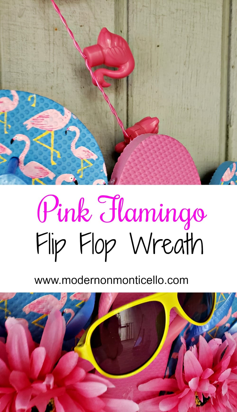 Pink Flamingo Flip Flop Wreath Modern On Monticello