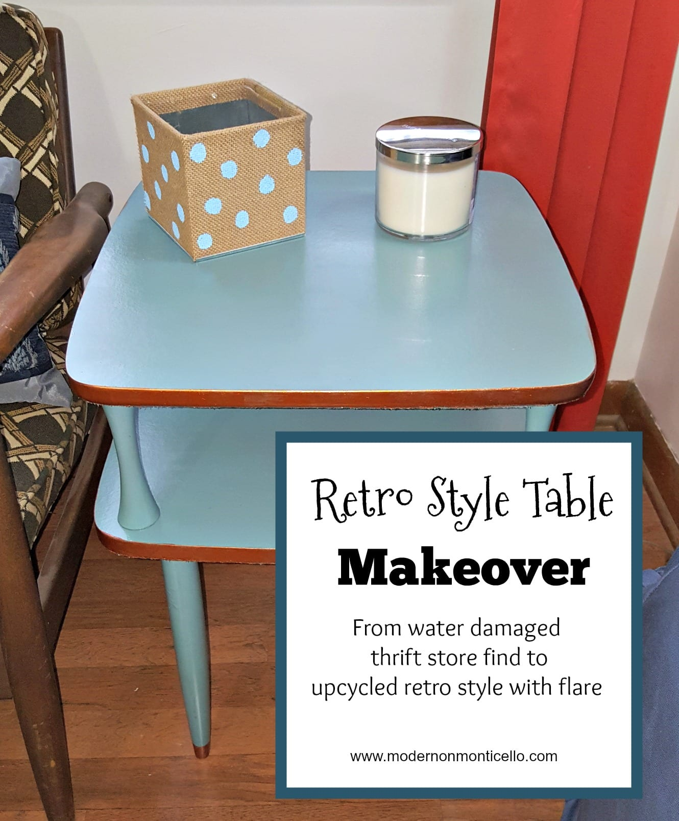 Retro Side Table Makeover From A Thrift Store Modern On Monticello