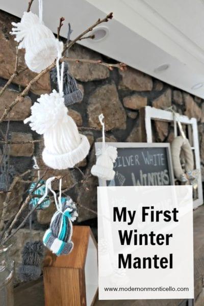 first winter mantel
