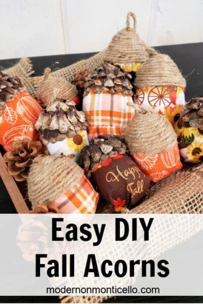 Easy DIY Fall Acorns