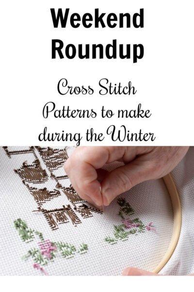 cross stitch winter themed