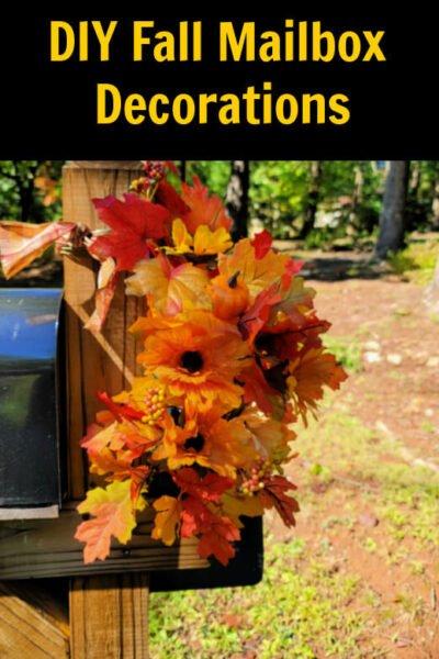 diy fall mailbox decorations