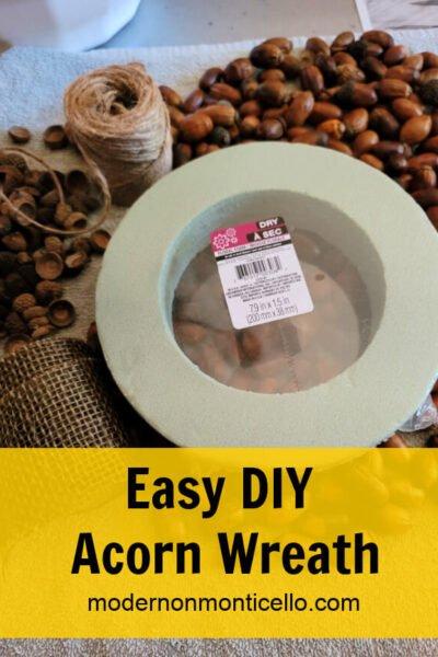 easy diy acorn wreath