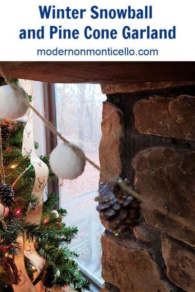winter snowball garland