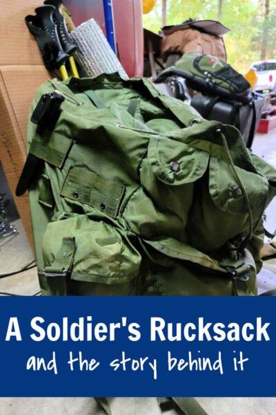 a soldier's rucksack