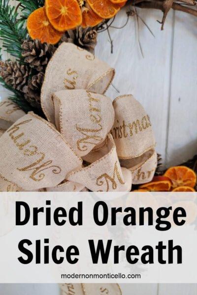 dried orange slice wreath