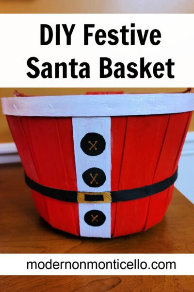 festive santa basket