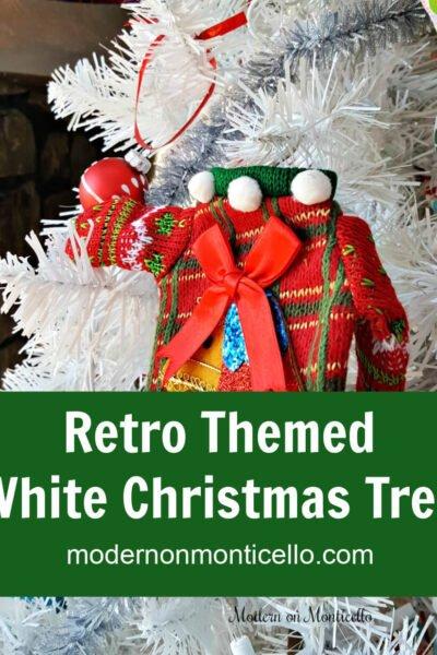 retro themed Christmas tree