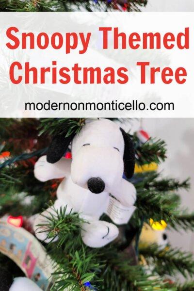 snoopy themed Christmas tree