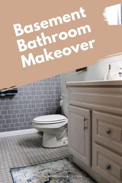 basement bathroom makeover