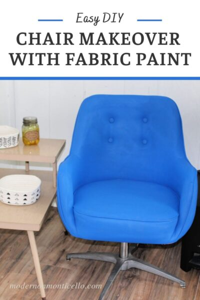 vintage blue painted chair