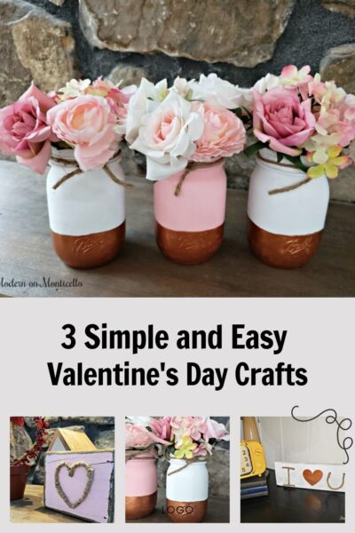 3 easy Valentines Day crafts