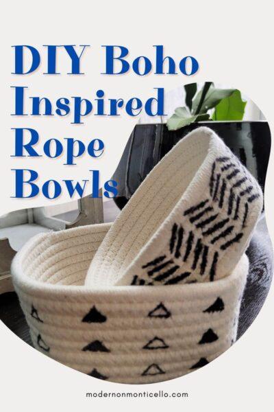 DIY Boho Rope Bowls