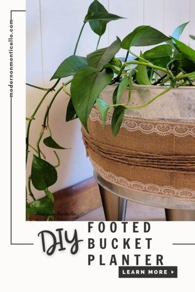 DIY footed bucket planter