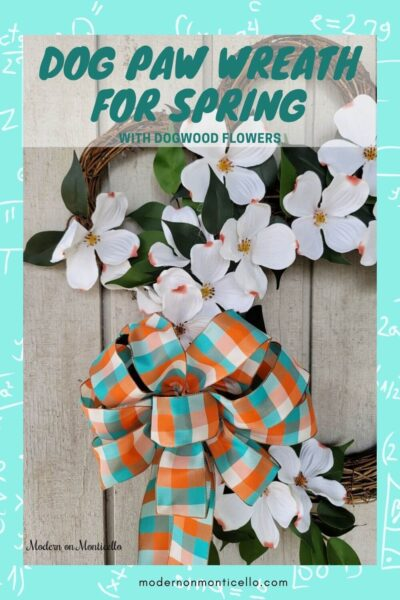 dog paw wreath for spring