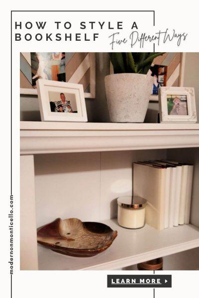 bookshelf five different ways