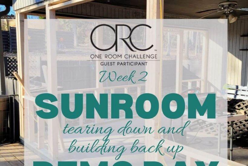 sunroom demo day