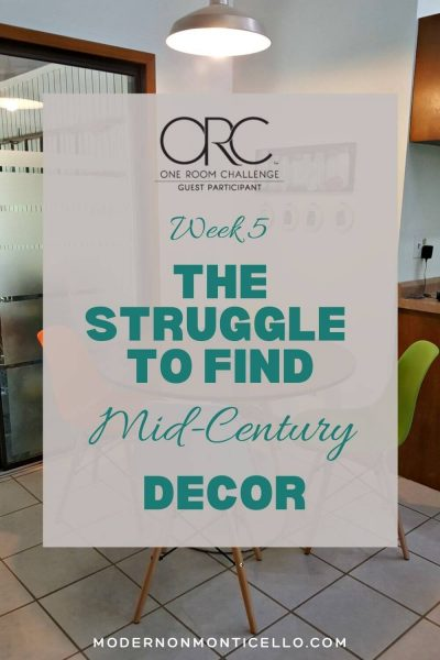 mid century decor struggle